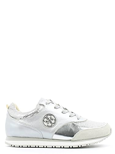 GUESS SNEAKERS IN PELLE ARGENTO