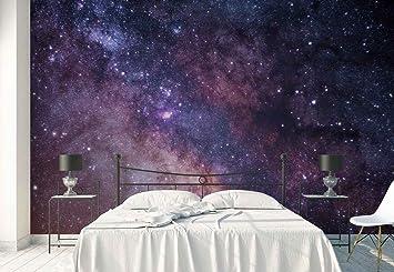 Vlies Fototapete Fotomural Wandbild Tapete Nachthimmel Sterne