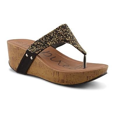 097597d12e96 New Ladies Toe Post Sparkly Diamante Platform Wedge Flip Flops Sandals UK  3-8,