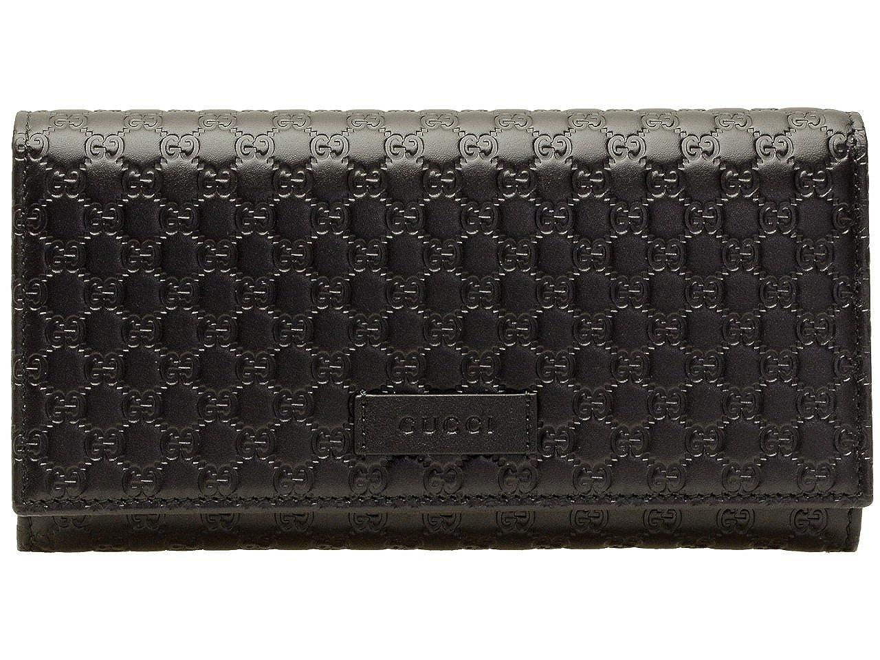 (グッチ) GUCCI 財布 長財布 二つ折り ブラック マイクログッチシマレザー 449396bmj1g1000 アウトレット ブランド [並行輸入品] B01NA8TT6J