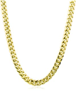 JOTW Sterling Silver Goldtone 7.2mm 30 Inch Miami Cuban Chain 102 Gram Necklace I-3966