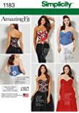 """Simplicity 1183 Size AA 10/12/14/16/18 """"Misses' and Plus Size Corsets"""" Sewing Pattern"""