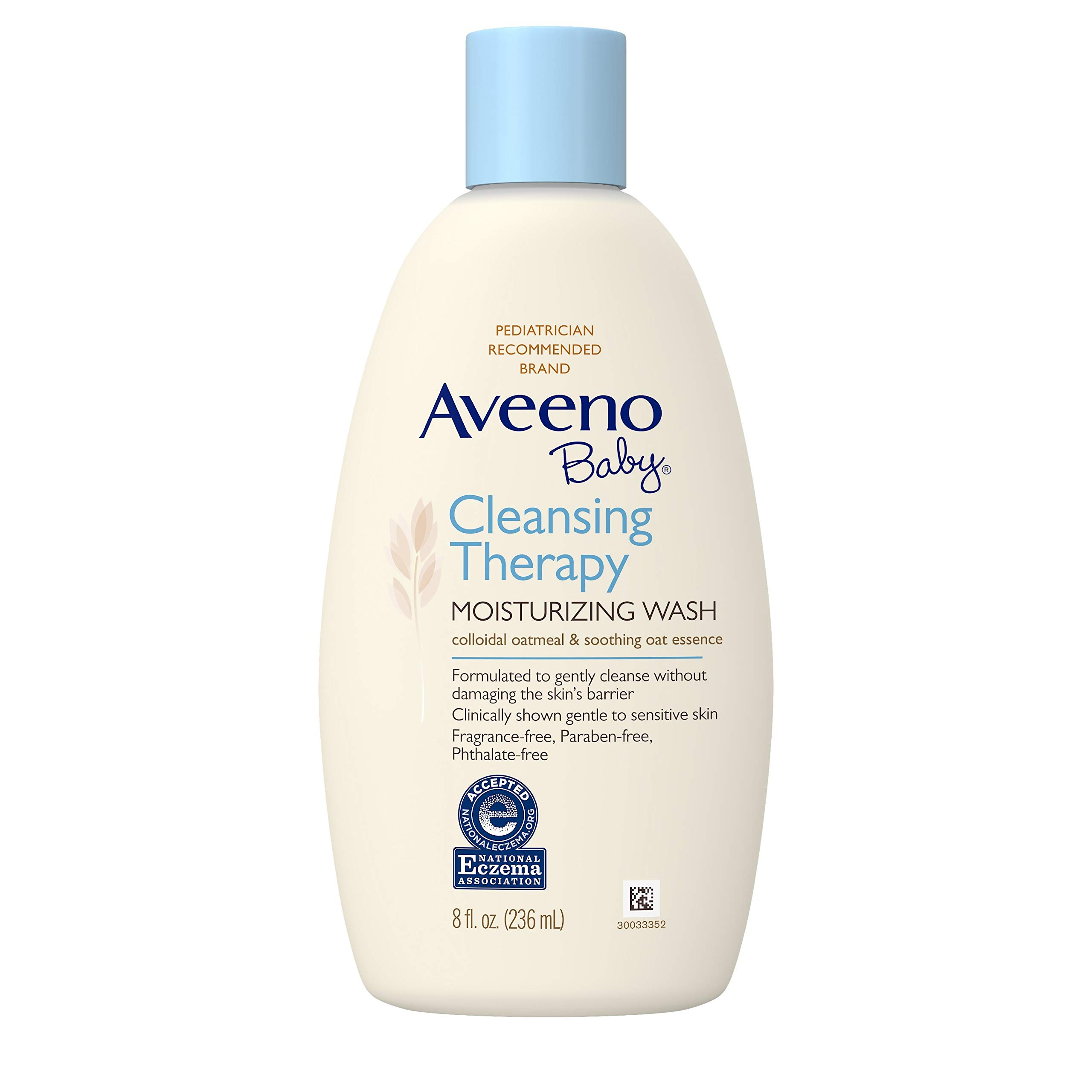 Aveeno Baby Cleansing Therapy Moisturizing Wash, Natural Colloidal Oatmeal, 8 fl. oz