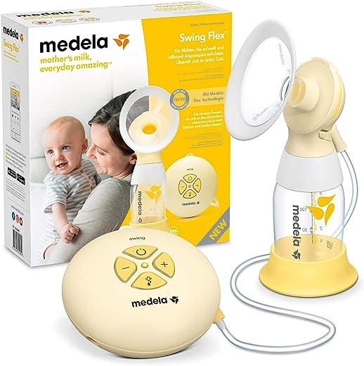 Extrator de Leite Materno Elétrico Medela Swing Flex, Medela, Amarelo