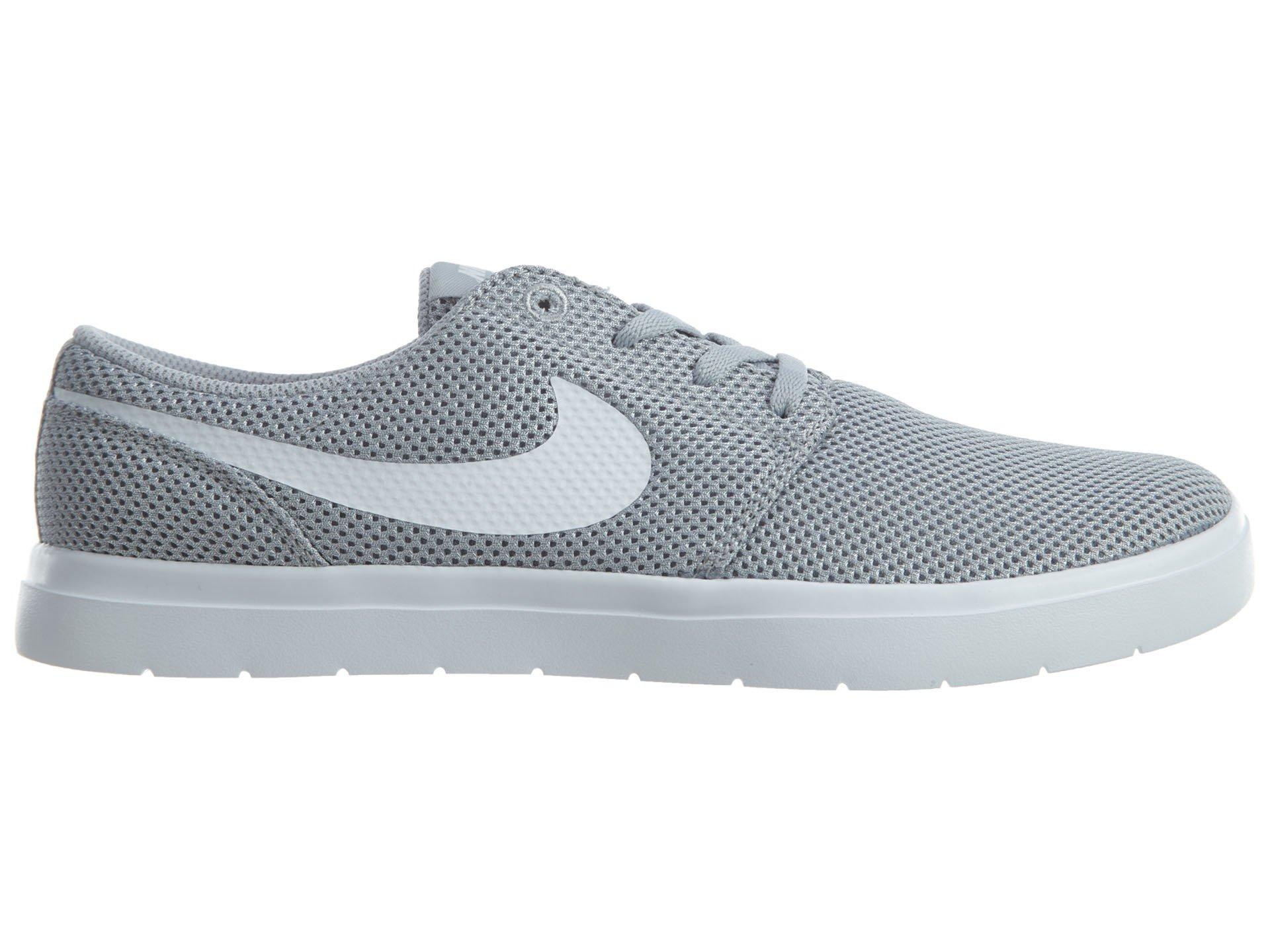 02e07e38afb054 NIKE Mens SB Portmore II Ultralight Wolf Grey White Size 10 - 880271 011    Fashion Sneakers   Clothing