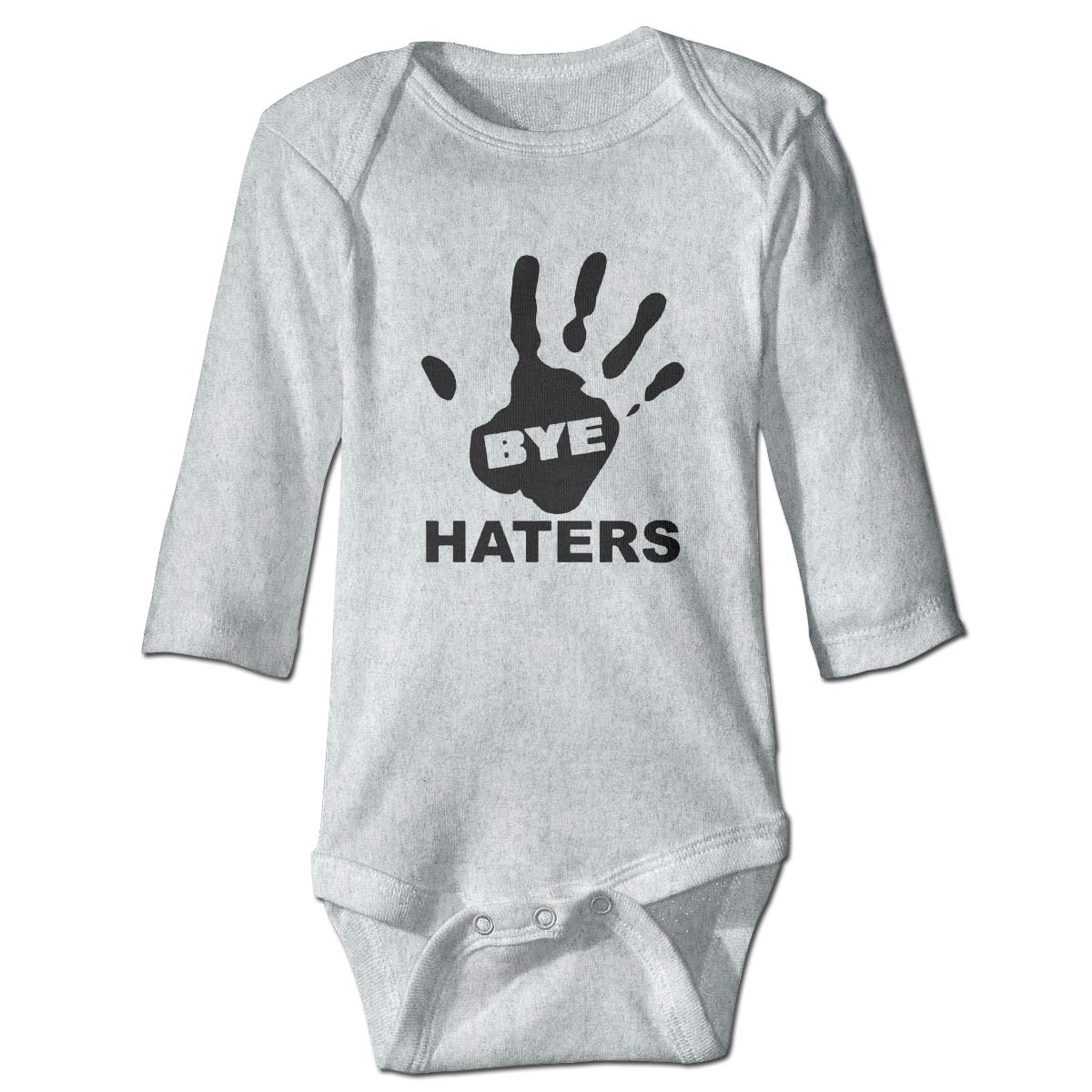 Dfenere Bye Haters Fashion Newborn Baby Long Sleeve Bodysuit Romper Infant Summer Clothing