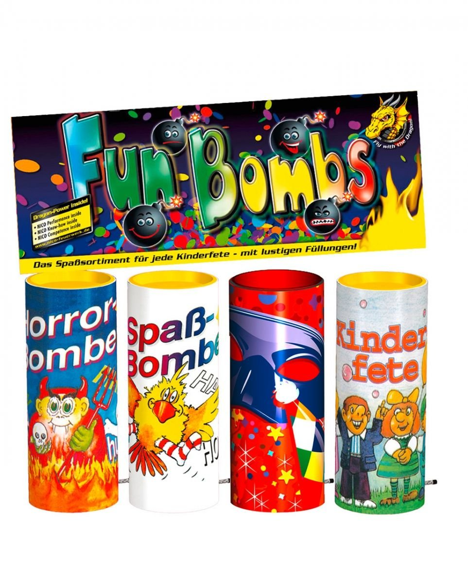 Fun Bombs Tischfeuerwerk 4p-Btl. Horror-Shop
