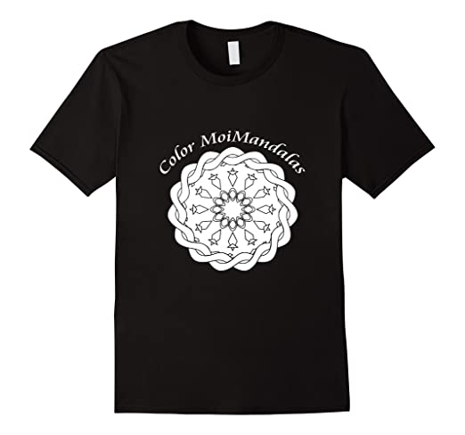 Mandala #4 Tee Shirt That Can Be Colored With Fabric Markers