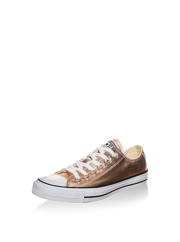 Converse Damen Schuh Chuck Taylor Ox Schlangenhautmuster Silber   weiß