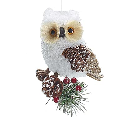 country rustic white owl christmas ornaments holiday ornament single pack