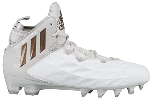 209bc424a60 Adidas Freak Lax Mid Cleat Unisex Lacrosse 9.5 White-Copper Metallic ...