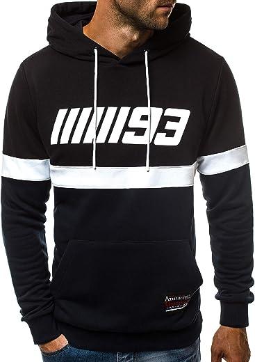 OZONEE Herren Kapuzenpullover Sweatshirt Langarmshirt Sweatjacke Pullover  Print Täglichen Modern Sportswear Kapuze Hoodie A 0963 8bc3fe4d7f