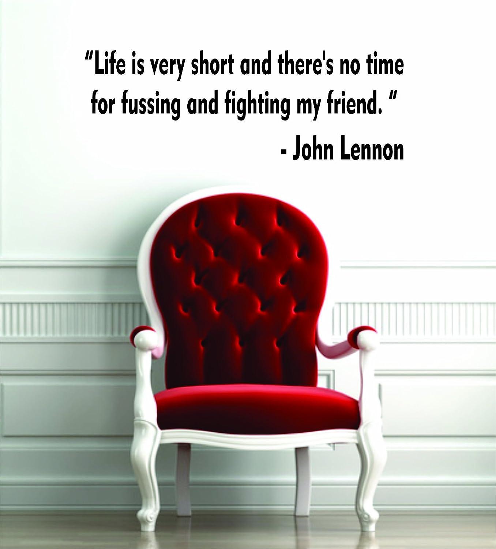 Amazon Life Is Very Short John Lennon Beatles Quote Decal