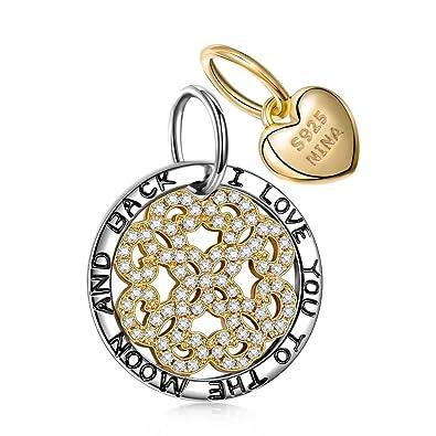 NinaQueen Loyal Love - 925 Sterling Silver Charms Nickel-free e5WWYxyG