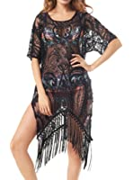 Kiddom Sexy Beach Wear Tops Plus Size Floral Lace Swimwear Dresses Swimsuit Bikini Cover Up