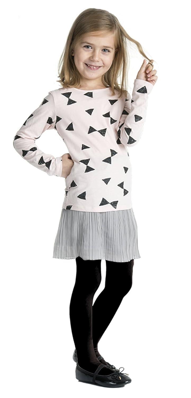 Girls Plain 40 Denier Microfibre Opaque Tights (Age 10-11 (152-158cm), Black)