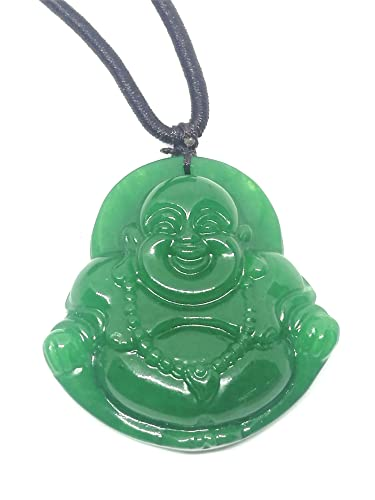 Amazon big green laughing buddha jade pendant necklace jewelry big green laughing buddha jade pendant necklace aloadofball Image collections