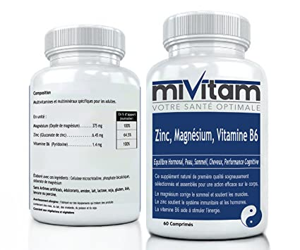 Zinc, Magnesio, B6: ZMA – Booste la energía, regla el sueño,