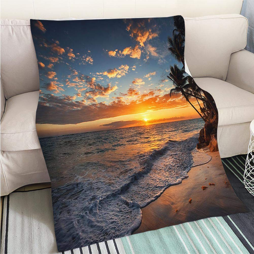 color19 47 x 59in Super Soft Flannel Thicken Blanket Sunrise of Scent Perfect for Couch Sofa or Bed Cool Quilt