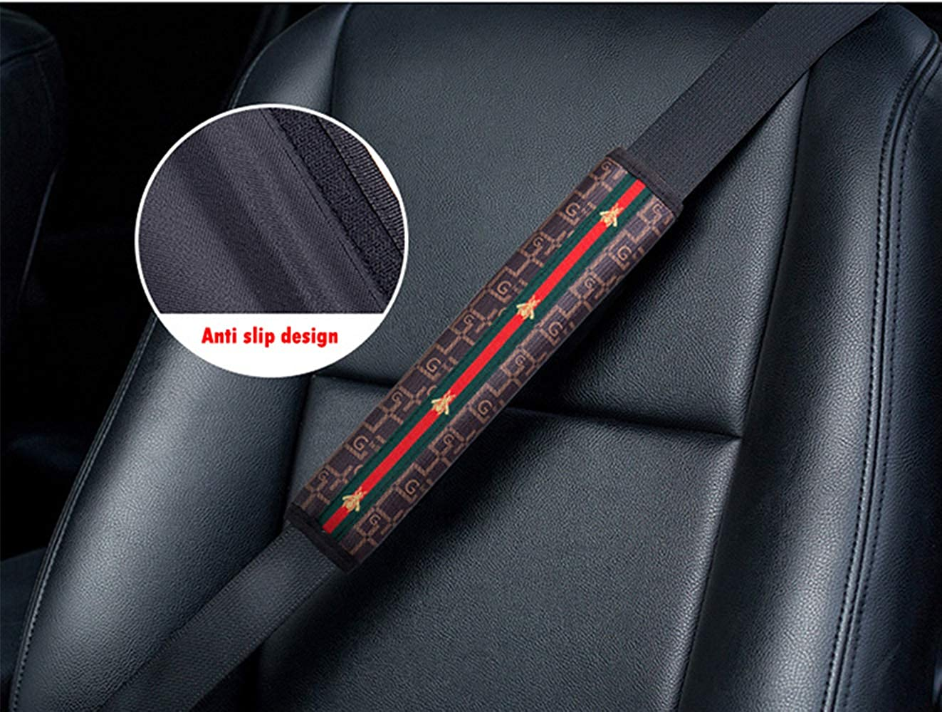 2Pack Car seat Cover Belt Shoulder Seatbelt Pads 29 Cm Long