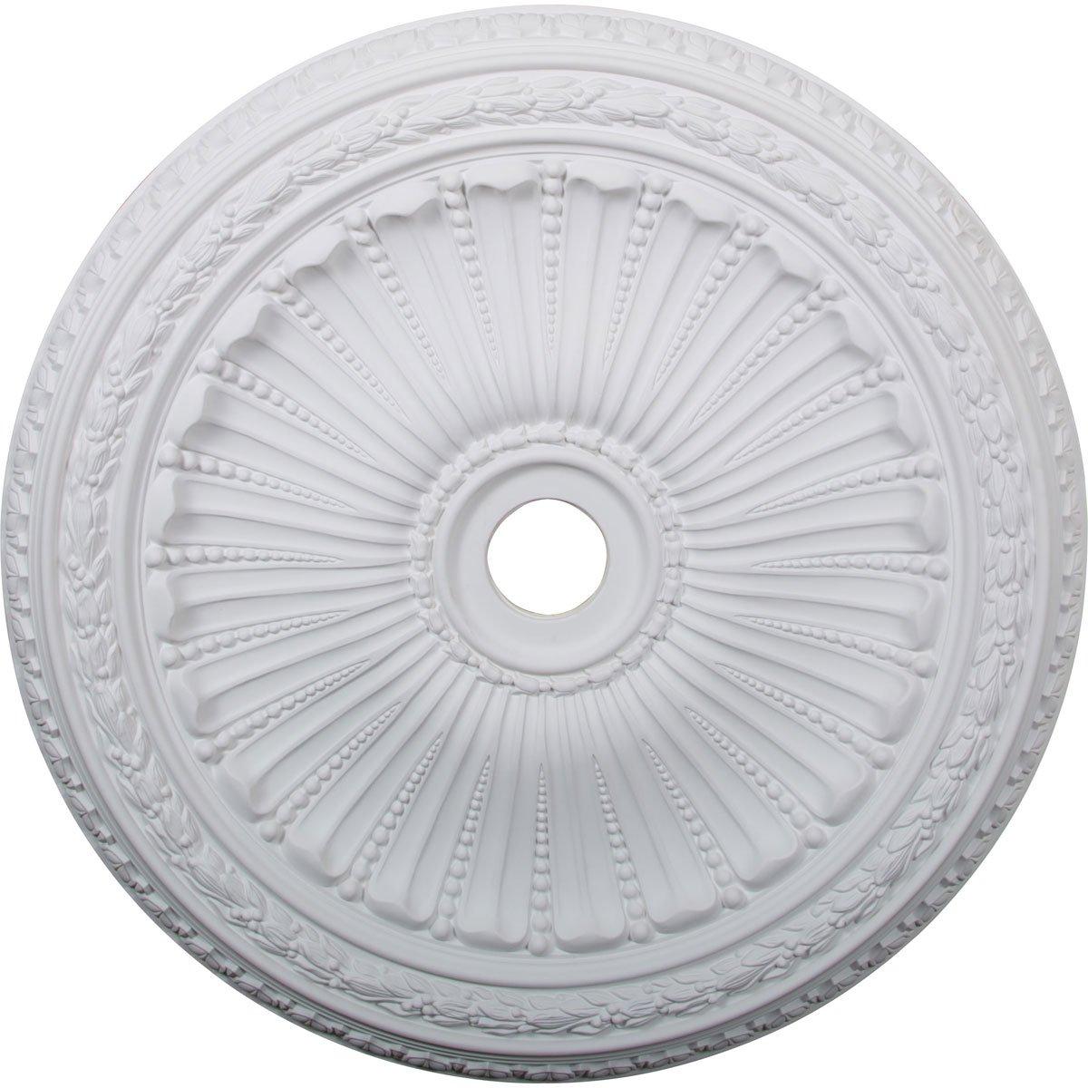 Ekena Millwork CM35VI 35 1/8-Inch OD x 3 7/8-Inch ID x 2 1/2-Inch P Viceroy Ceiling Medallion