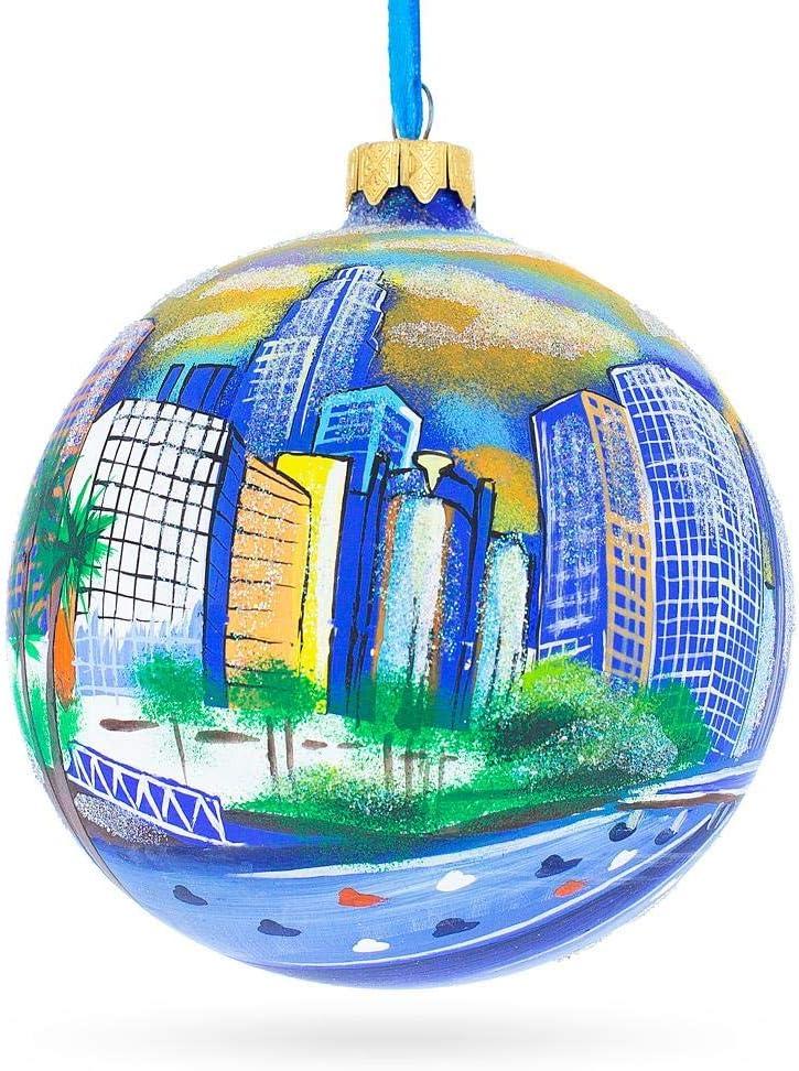 California Glass Ball Christmas Ornament 4 Inches I Love Los Angeles