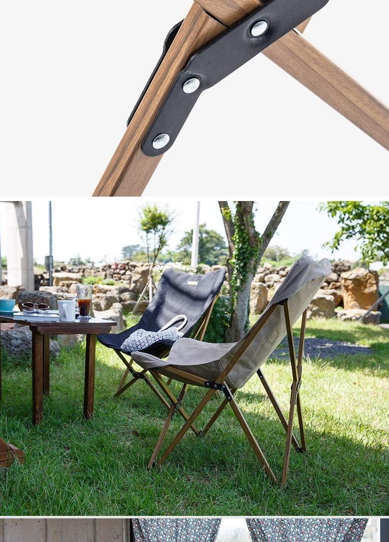 weichuang Chaise de Camping Chaise De P/êche en Bois en Bois Peut pour Le Camping De Camping L/éger Bois Grain De Chair De Chaise De Plage De P/êche Chaise Pliante Ext/érieure