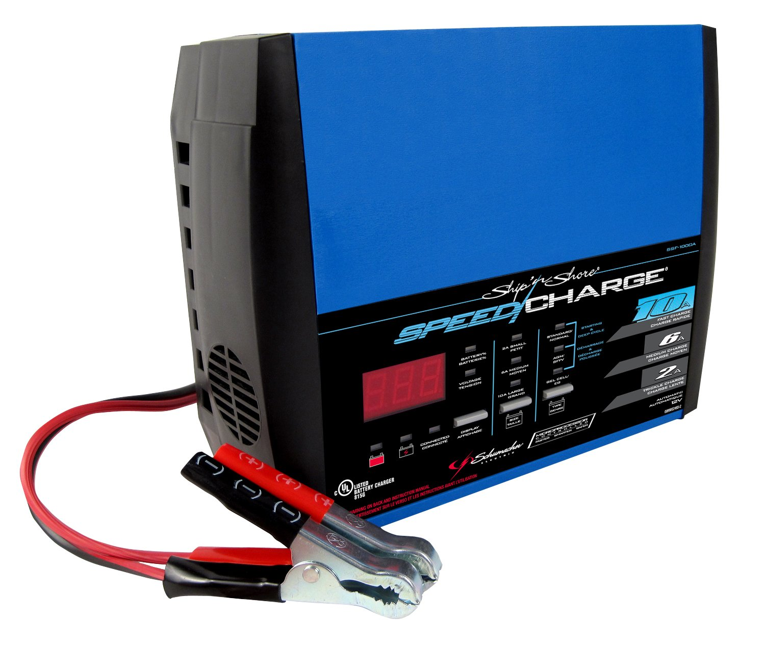 Schumacher SSF-1000A 2/6/10A 12V Automatic SpeedCharge Battery Charger