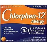 Chlorphen Chlorpheniramine Maleate, 12 Mg Extended Realease,  24 Tablets