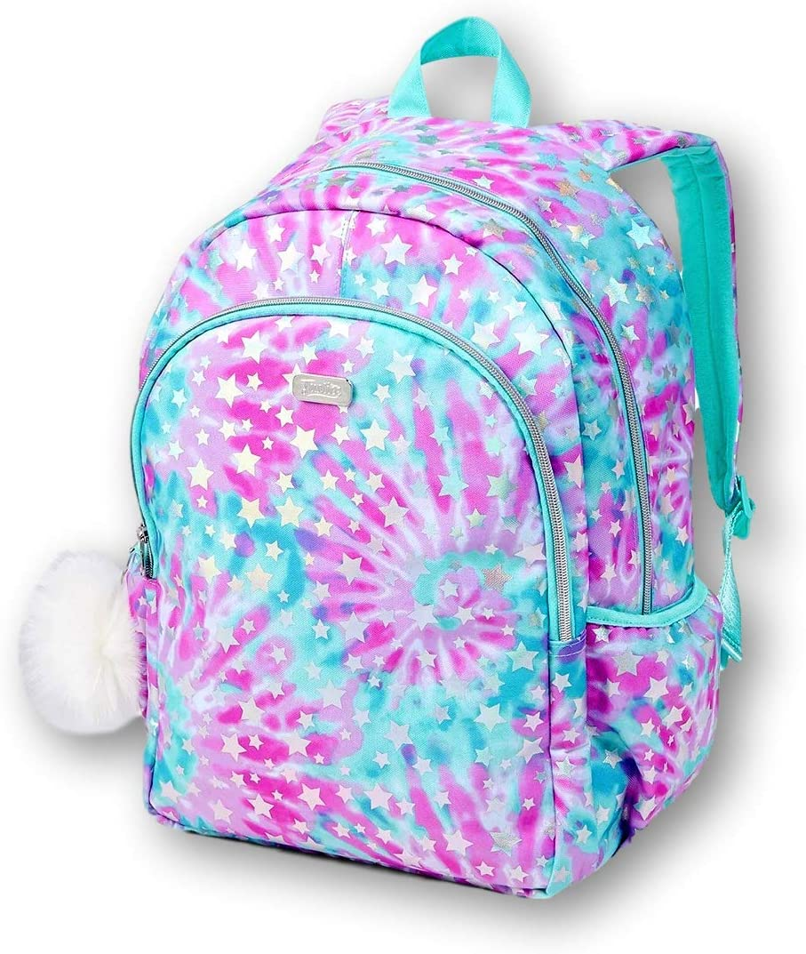 Amazon Com Justice Star And Tie Dye Kids School Backpack For