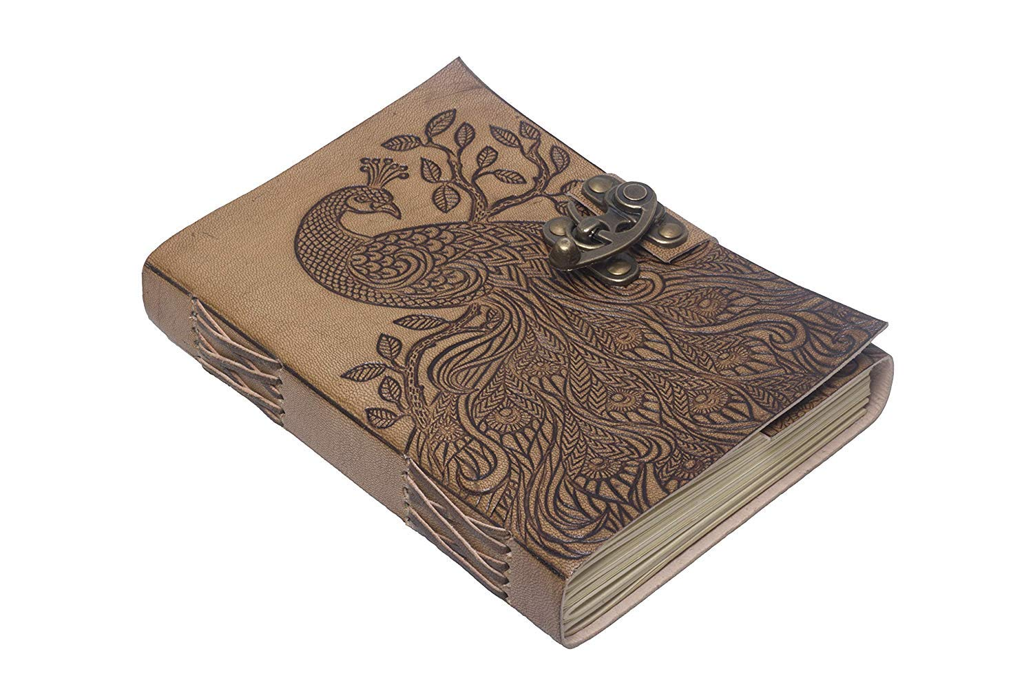 RjKart Leather Peacock Embossed C-Lock Diary Brown 5x7 Inch Birthday for Men Woman Boy Friend Girl Friend Husband Wife Brother Sister Father Mother[Dairy Diary Notebooks For Office College school Diaries Men Women Doodle Journal Notebook Bullet Journals Note Book Notepad Bag Pocket Sketchbook Planner Personal Daily Diaires Students Notepads Writing Sketch Stationary Stationery Accessories Spiral Ruled Stylish Gifts Planners With Lock ] (B07PBVHNHC) Amazon Price History, Amazon Price Tracker