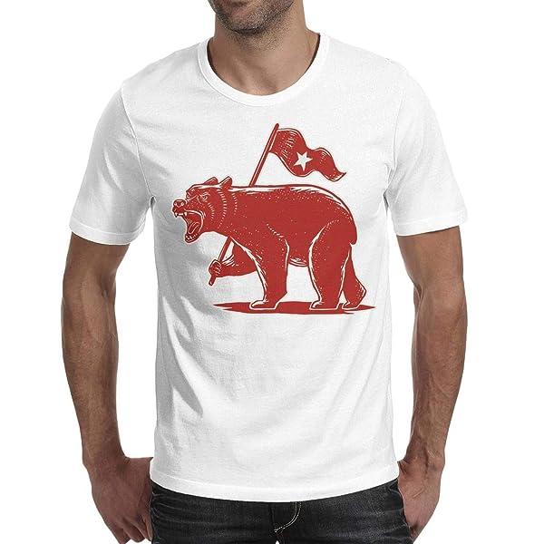 S California Bear Flag Star Summer T Shirts Fashion Short Sleeve Fashion O Neck T Shirt Tees For