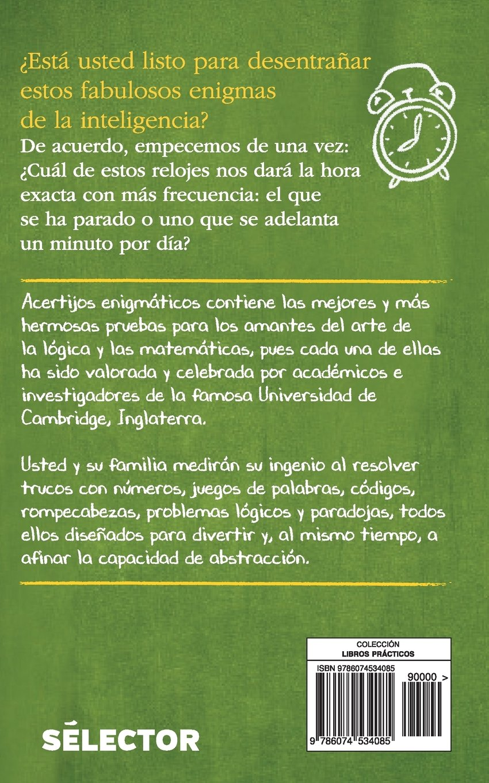 Acertijos enigmaticos (Spanish Edition): Allan Maley, Francoise Grellet: 9786074534085: Amazon.com: Books
