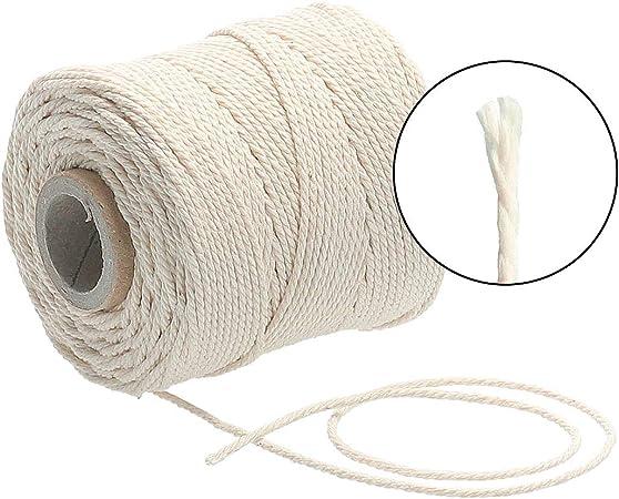 Lieblingsgarn: Cordón premium de macramé de 1 mm x 65 m de algodón natural: Amazon.es: Hogar