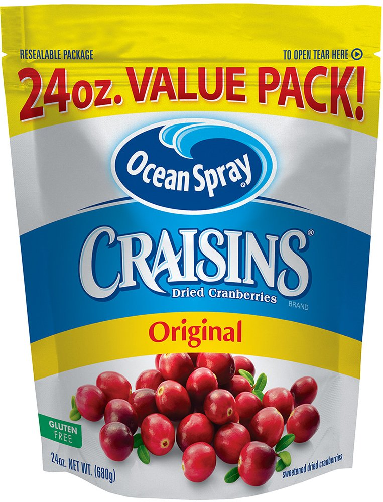Ocean Spray Craisins Dried Cranberries, 24 Ounce (Pack of 8)