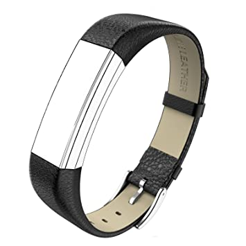 Fitbit Alta Leather Bands Metal Buckle Genuine Leather Replacement Wrist  Bands For Fitbit Alta Prevent the Tracker Fall Off