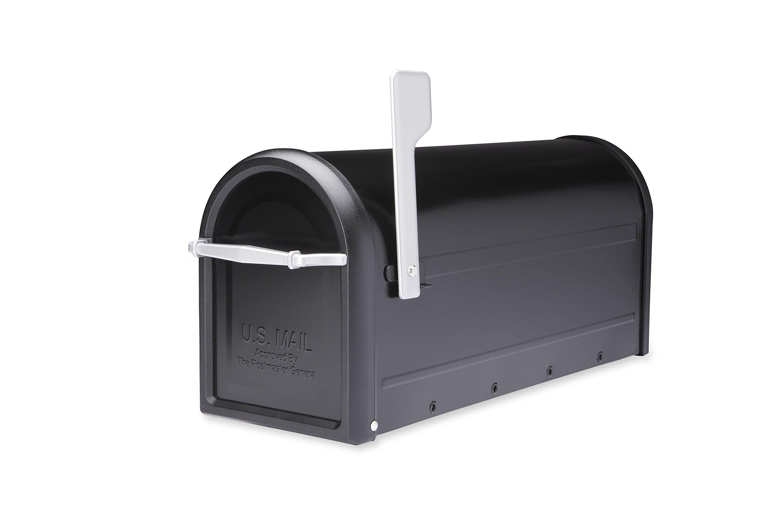 Architectural Mailboxes 8950B-10 Chadwick Postmount Mailbox, Large, Black