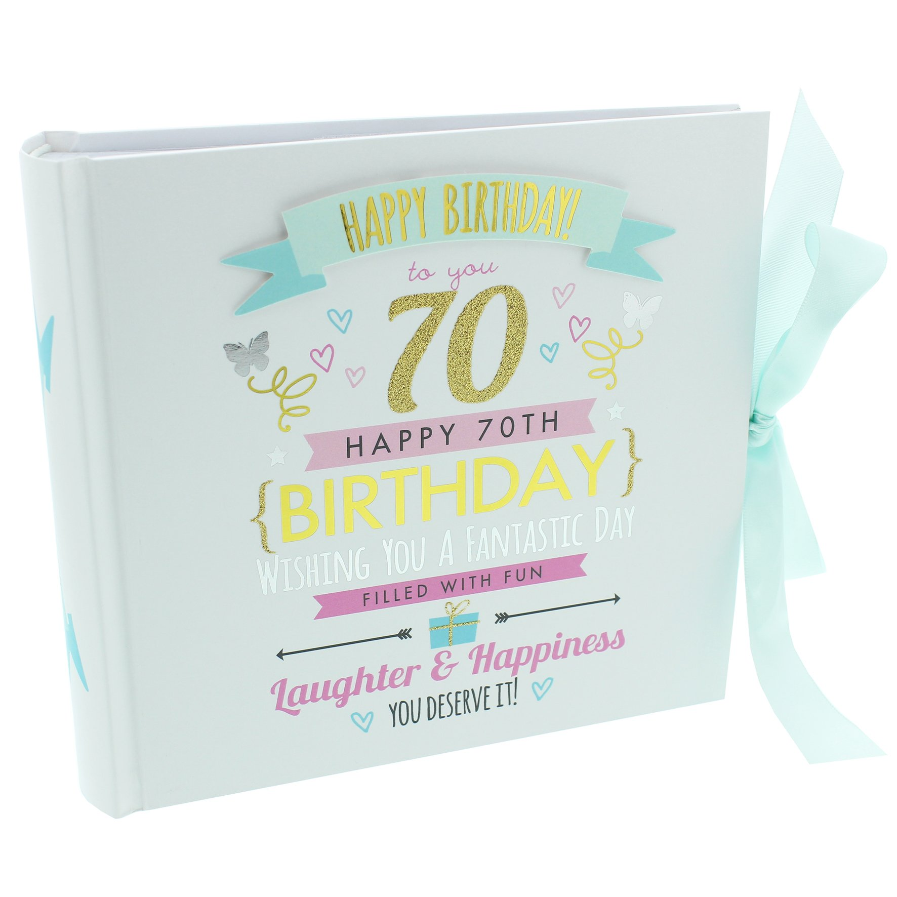 Oaktree Gifts 70th Birthday Girl Photo Album Hold 4 x 6