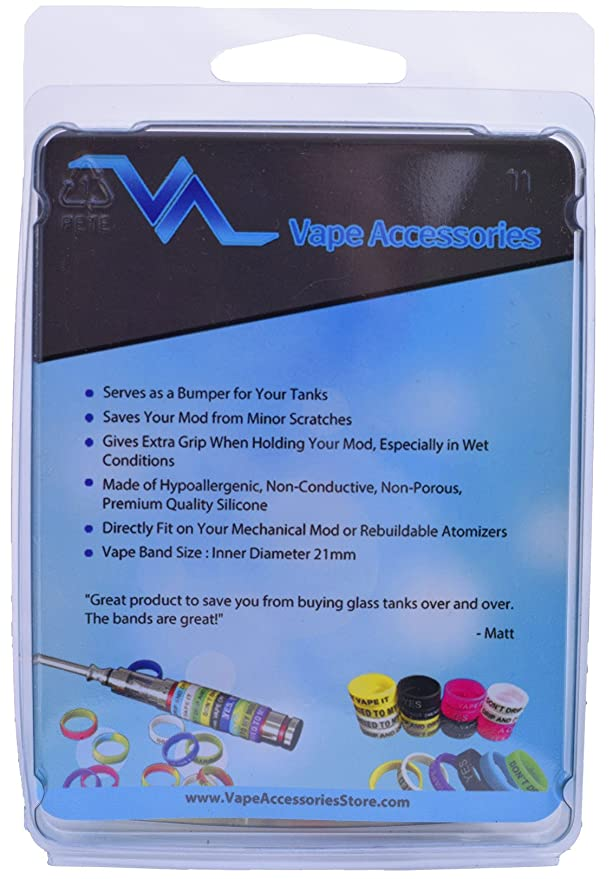 Amazon com: Vape Bands - Pack of 20 Vape Rings made with