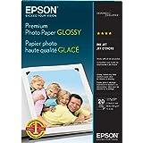 Epson Premium Photo Paper GLOSSY (11x17 Inches, 20 Sheets) (S041290),White