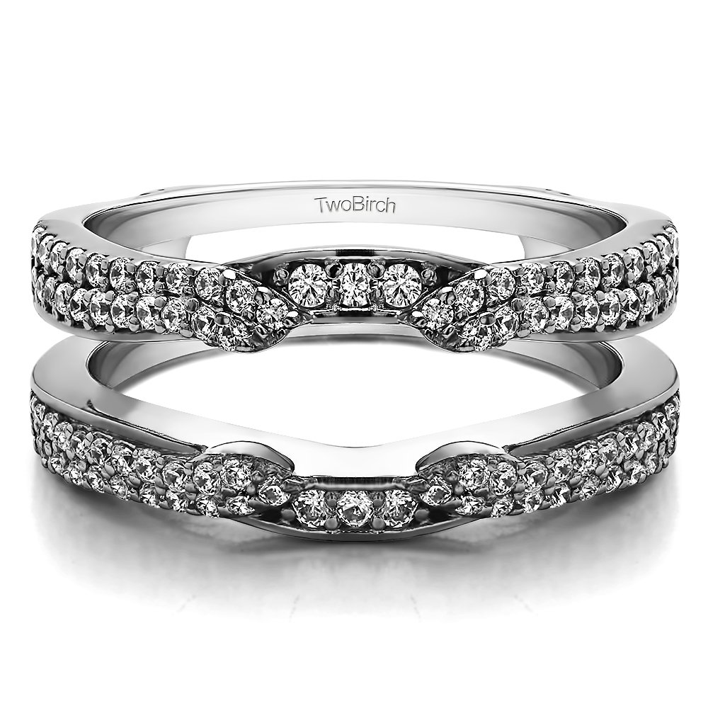 Sterling Silver Cathedral Ring Guard Enhancer with Diamonds (G-H,I2-I3) (0.5 ct. tw.)