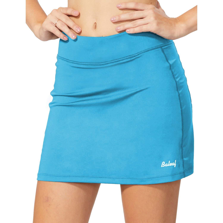 BALEAF Women's Active Athletic Skort Lightweight Skirt with Pockets for Running Tennis Golf Workout Light Blue Size L by BALEAF