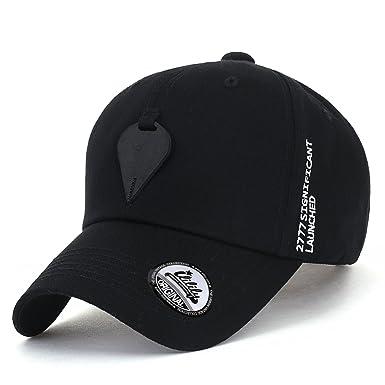 1c004a83f ililily Drop Faux Leather Patch Baseball Cap Strapback Cotton ...