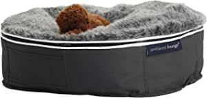 Small Dog Size, Ambient Lounge ® Luxury Bed (Includes Filling). with Washable, Luxury Faux Fur Cover & chew-Resistant Waterproof Base
