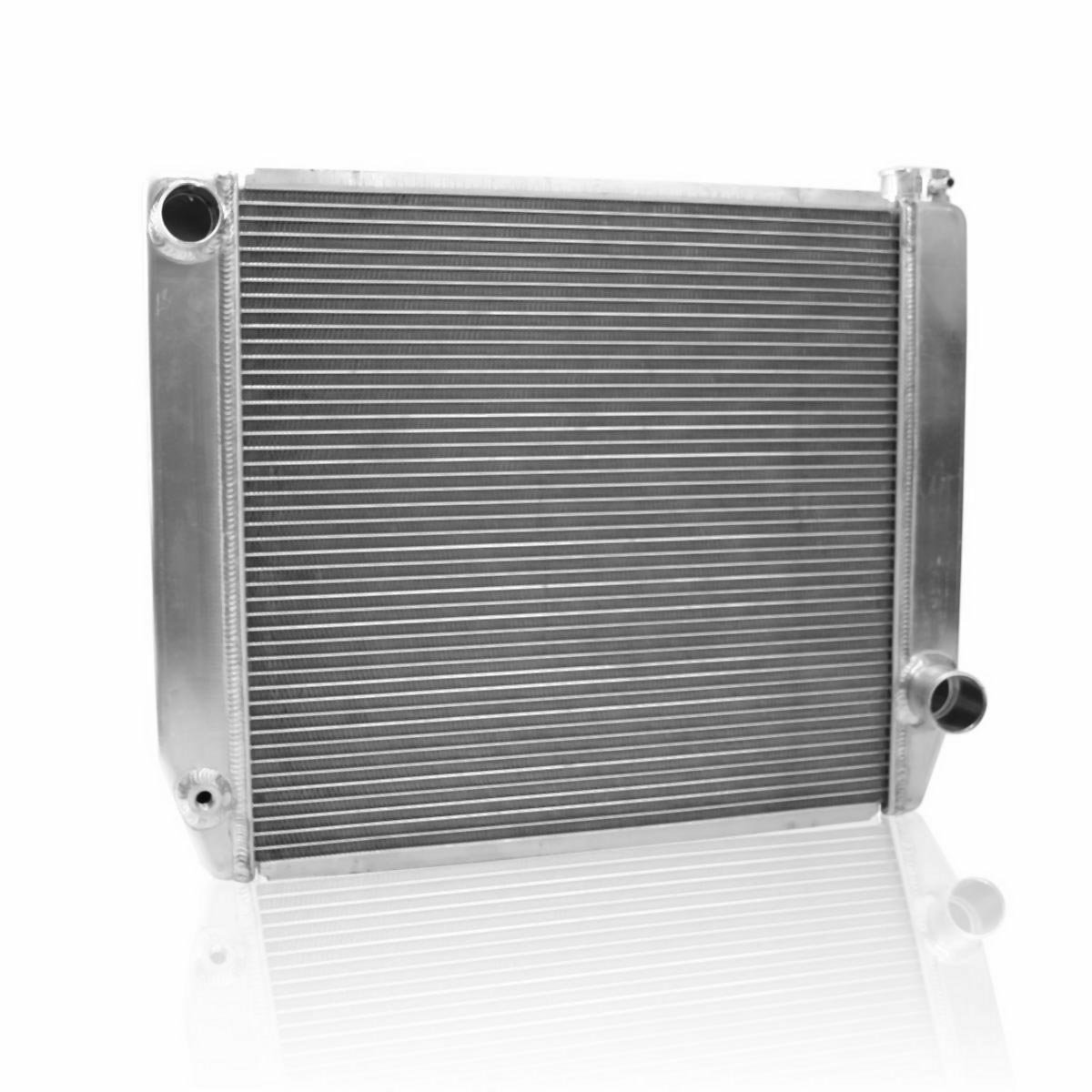 Griffin Radiator 1-55202-X MaxCool 24' x 19' 2-Row Universal Race Radiator with 1.25' Tube and Top, Left, Bottom, Right Outlets