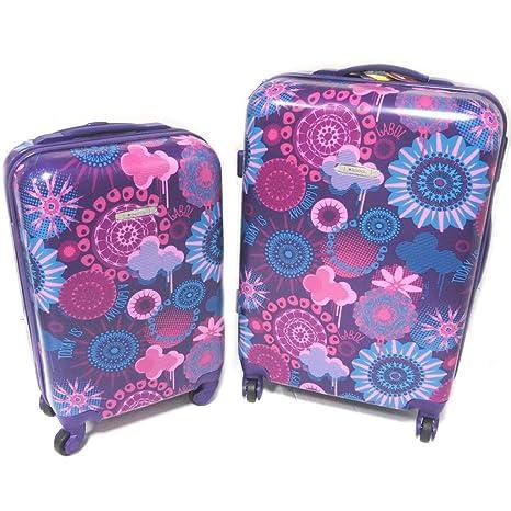 Set 2 maletas trolley abs Gabolpúrpura - 66x44x28 y 50x34x19 ...
