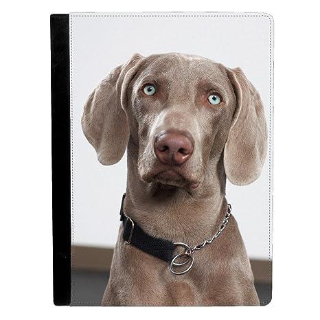 Weimaraner perro cachorro mirando a cámara inquisitively Apple iPad Pro 9.7 Inch Funda de piel funda