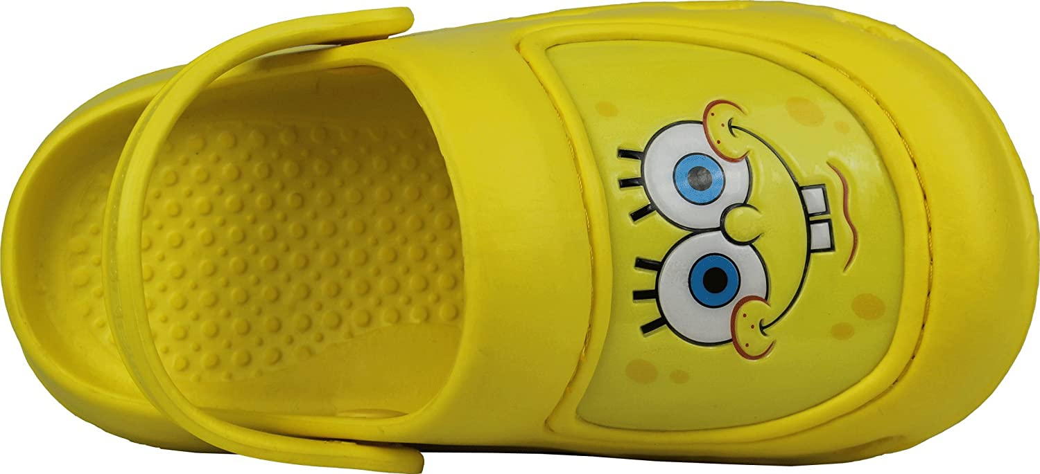 21a7ad53d53c Amazon.com  Spongebob Squarepants Yellow Toddler Boys Clogs Shoes 7 8  Home    Kitchen