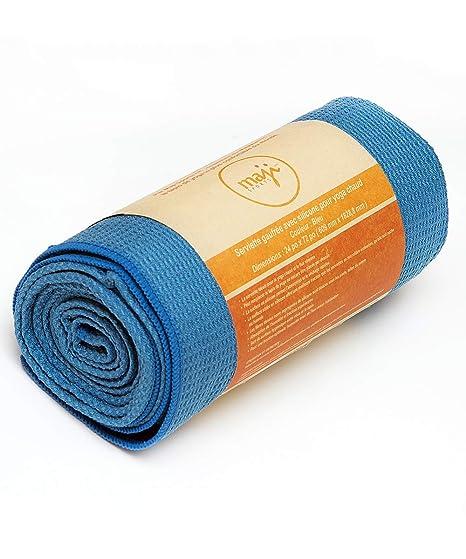 Amazon.com : Maji Sports Silicone Wafle Yoga Towel, Blue ...
