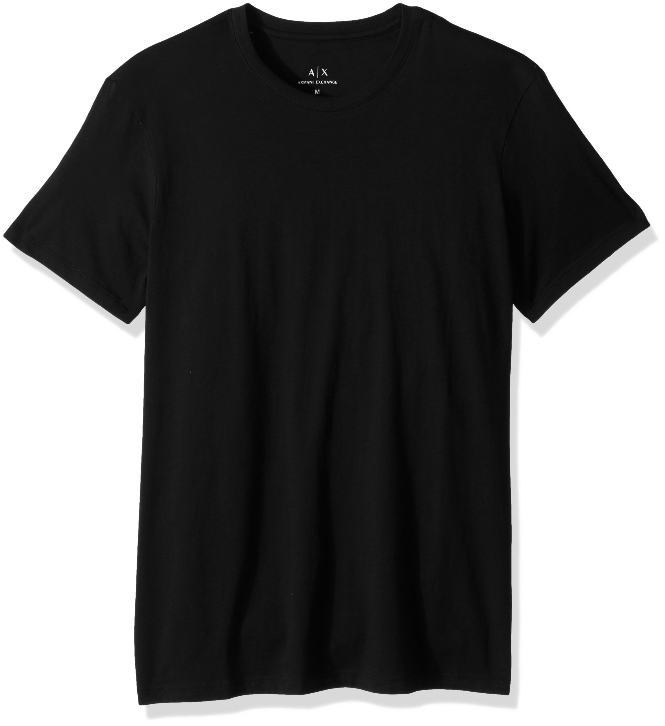 A|X Armani Exchange Men's Classic Cotton Crew tee, Black, XXL